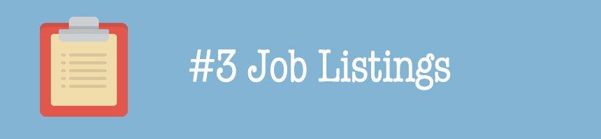 #3 Job Listings