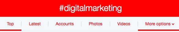 Twitter Search #digitalmarketing